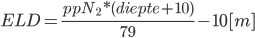 Equivalent Air Depth