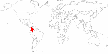 Illustratie huidige bekende operationele gebieden Ejército de Liberacion Nacional (ELN)
