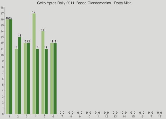 Geko Ypres Rally 2011: Basso Giandomenico - Dotta Mitia