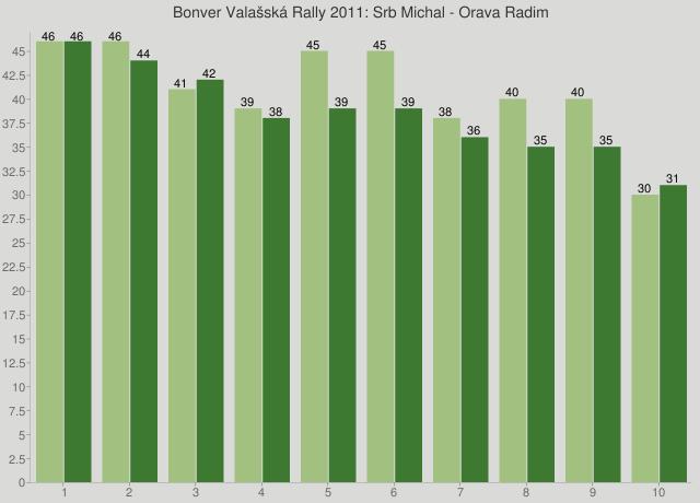 Bonver Valašská Rally 2011: Srb Michal - Orava Radim