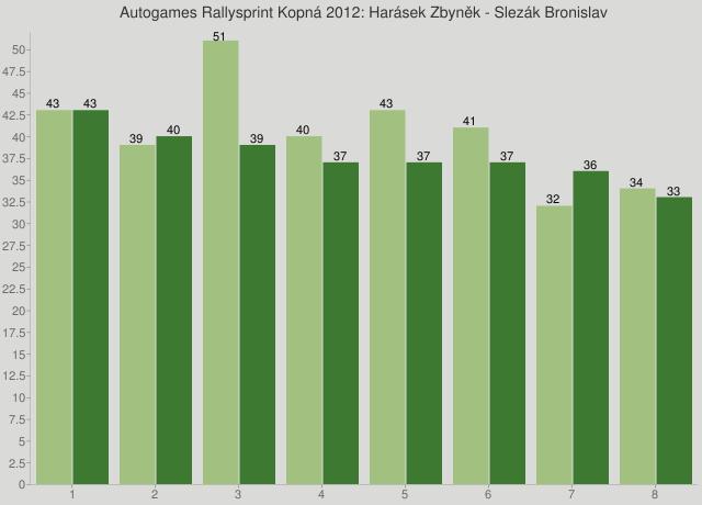 Autogames Rallysprint Kopná 2012: Harásek Zbyněk - Slezák Bronislav