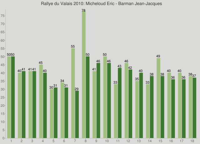 Rallye du Valais 2010: Micheloud Eric - Barman Jean-Jacques