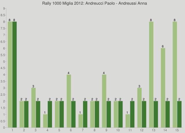 Rally 1000 Miglia 2012: Andreucci Paolo - Andreussi Anna