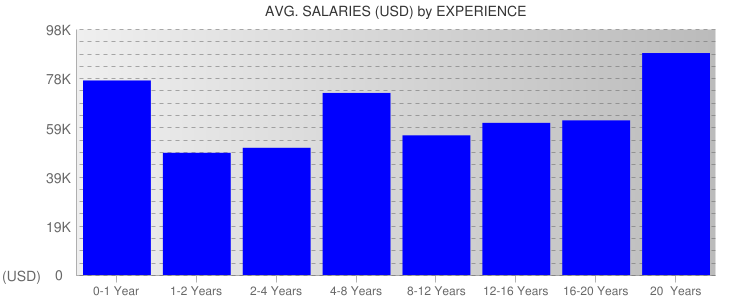 Average Salaryies By Experience For New Mexico