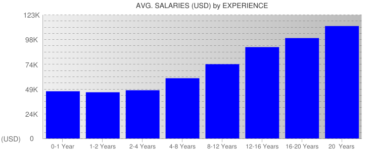 Average Salaryies By Experience For Georgia