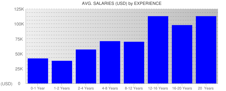 Average Salaryies By Experience For Minnesota