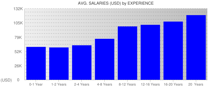 Average Salaryies By Experience For New York State