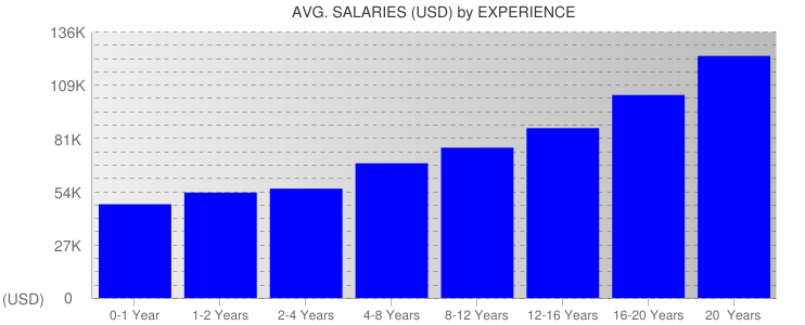 Average Salaryies By Experience For Texas