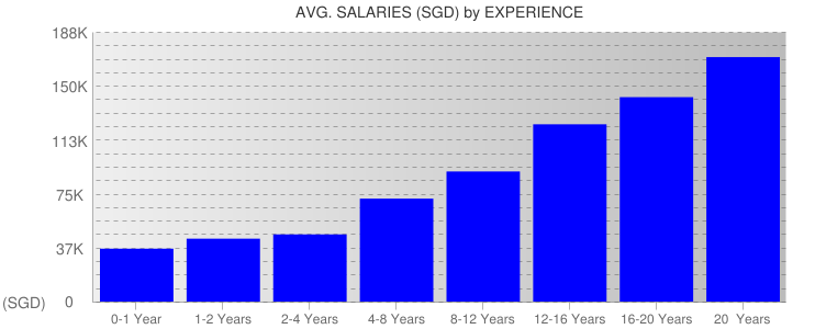 Average Salaryies By Experience For Singapore