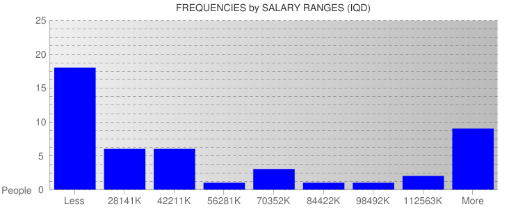 Average Salary Ranges For Iraq
