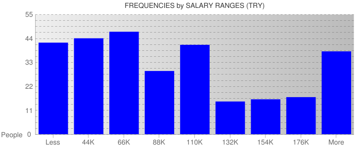 Average Salary Ranges For Turkey