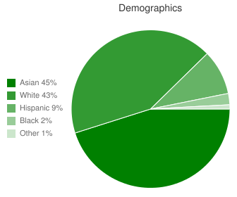 Cupertino Middle Demographics
