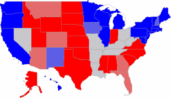 Red States and Blue States, USA