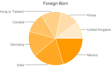 Most Common Foreign Birthplaces in Knoxville