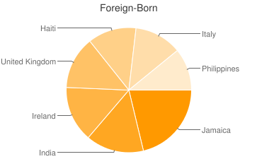 Most Common Foreign Birthplaces in Darby