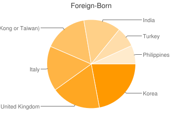 Most Common Foreign Birthplaces in21050