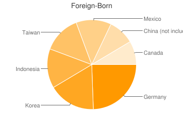 Most Common Foreign Birthplaces in66503