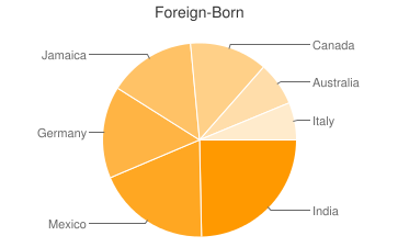 Most Common Foreign Birthplaces in30308