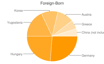 Most Common Foreign Birthplaces in Mogadore