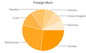 Most Common Foreign Birthplaces in04051