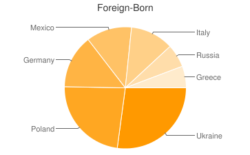 Most Common Foreign Birthplaces in Lincolnshire