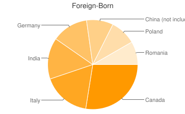 Most Common Foreign Birthplaces in48066