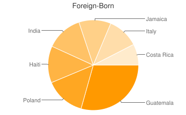 Most Common Foreign Birthplaces in Trenton