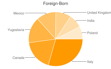 Most Common Foreign Birthplaces in48038