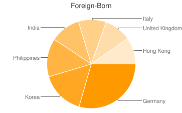Most Common Foreign Birthplaces in21009