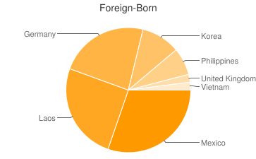 Most Common Foreign Birthplaces in Alma