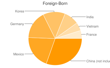 Most Common Foreign Birthplaces in66502