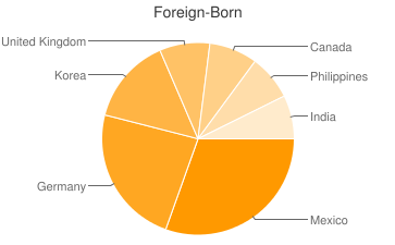 Most Common Foreign Birthplaces in Colorado Springs