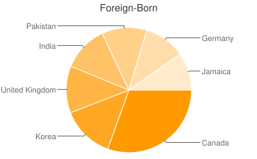 Most Common Foreign Birthplaces in30309