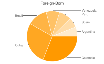 Most Common Foreign Birthplaces in33131