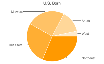 Most Common US Birthplaces in Safety Harbor