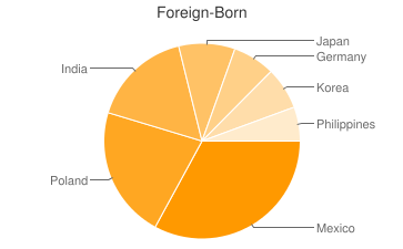 Most Common Foreign Birthplaces in60004
