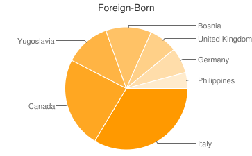 Most Common Foreign Birthplaces in48036