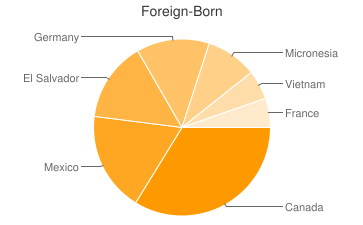 Most Common Foreign Birthplaces in49444