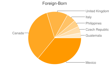 Most Common Foreign Birthplaces in Rancho Mirage
