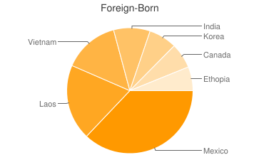 Most Common Foreign Birthplaces in Minneapolis