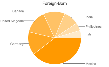 Most Common Foreign Birthplaces in86303