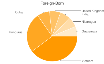 Most Common Foreign Birthplaces in New Orleans