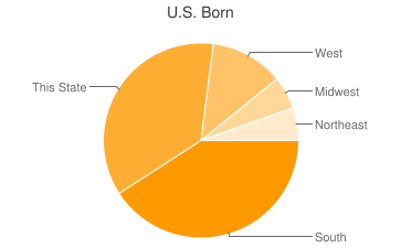 Most Common US Birthplaces in30313