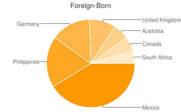 Most Common Foreign Birthplaces in Stateline