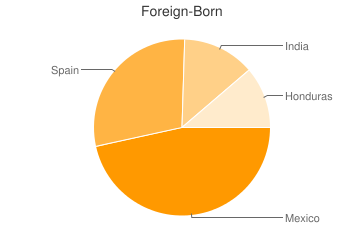 Most Common Foreign Birthplaces in Scottdale