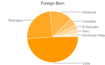 Most Common Foreign Birthplaces in33130