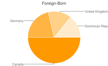 Most Common Foreign Birthplaces in Ward