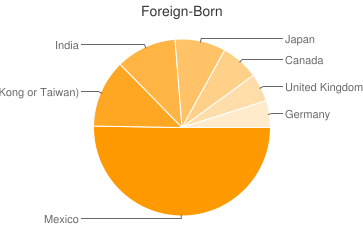 Most Common Foreign Birthplaces in Lexington