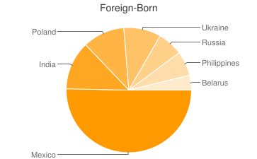 Most Common Foreign Birthplaces in60090
