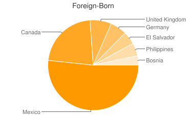 Most Common Foreign Birthplaces in Palm Desert